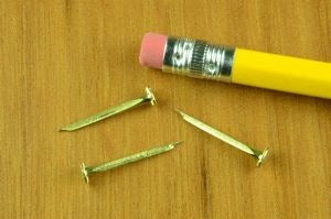 14 oz. BRASS Flat Head Canoe Tacks  (1 lb.)