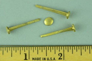 8/8 Brass-Plated Trunk Nails #8 (1 lb.)