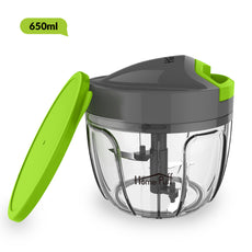 HomePuff 3 Blades Vegetable Chopper, cutter With Lid (650ml)