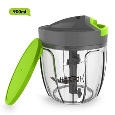 HomePuff 5 Blades Vegetable Chopper, cutter With Lid (900ml)