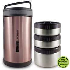 Vacuum Insulated Stainless Steel Lunch Box with Bag