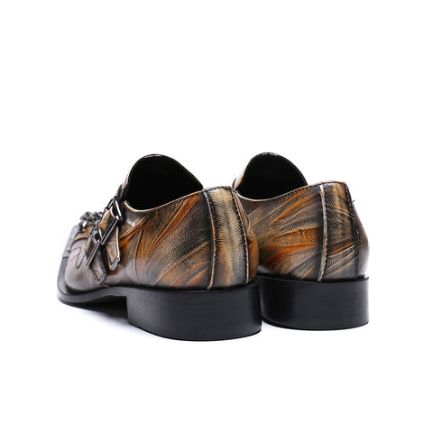 Cuzzo Oxford Men Dress Brown Leather Shoes-FrenzyAfricanFashion.com