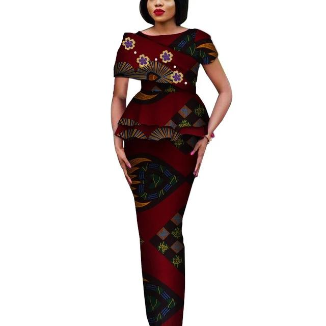 Fashion African Elegant Tops and Long Skirt Bawa Style #2-FrenzyAfricanFashion.com