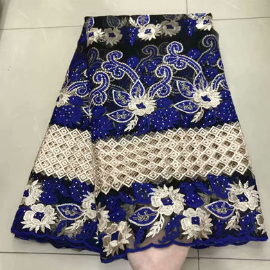 High Quality African Milk silk Lace Fabric 2019 French Tulle Lace Fabric Tulle With stones Nigerian Net Lace Fabric For Wedding-FrenzyAfricanFashion.com