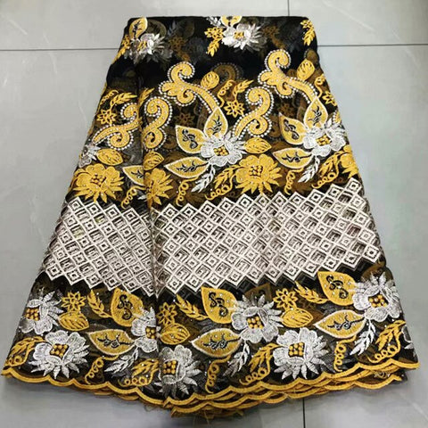 Image of High Quality African Milk silk Lace Fabric 2019 French Tulle Lace Fabric Tulle With stones Nigerian Net Lace Fabric For Wedding-FrenzyAfricanFashion.com