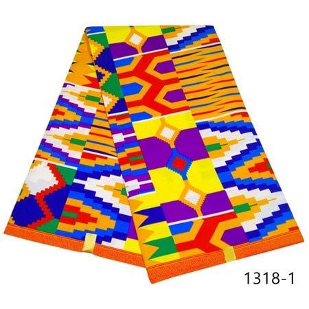 Kente Wax Fabric Design 6 Yards-FrenzyAfricanFashion.com