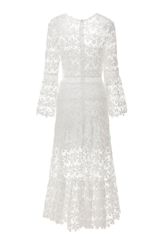 Lotus White Lace Dress-FrenzyAfricanFashion.com
