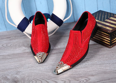 Zigi Pointed Toe Men Shoes-FrenzyAfricanFashion.com