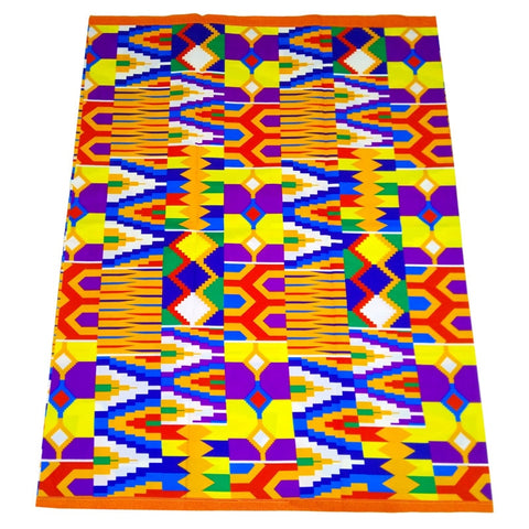 Image of Kente Wax Fabric Design 6 Yards-FrenzyAfricanFashion.com