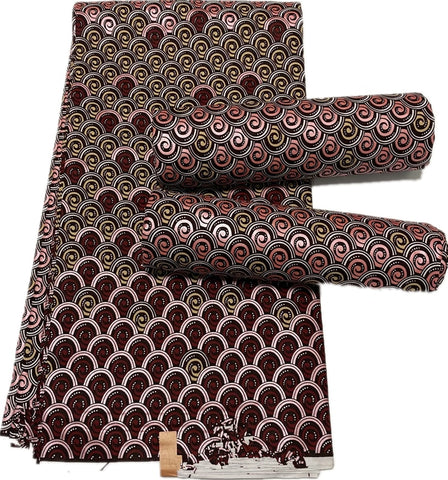 Denzel Collection African Ankara 6yards Fabrics-FrenzyAfricanFashion.com