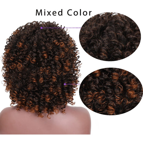 Image of Yongo Curly Synthetic Wigs High Heat Resistant Hair-FrenzyAfricanFashion.com