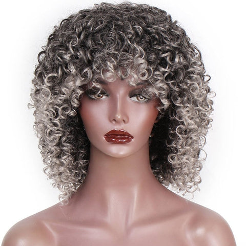 Yongo Curly Synthetic Wigs High Heat Resistant Hair-FrenzyAfricanFashion.com