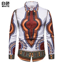 Load image into Gallery viewer, Dannex African Dashiki Angelina Mens Dress Shirts Slim Fit Long Sleeve-FrenzyAfricanFashion.com