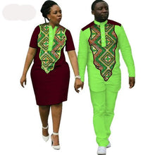 Load image into Gallery viewer, Kente Afrik Dashiki African Couples Clothing Lovers Bait 4-FrenzyAfricanFashion.com