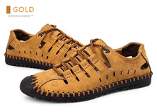 Load image into Gallery viewer, Dallas Genuine Leather Men Sandals Casual Outdoor Shoes-FrenzyAfricanFashion.com