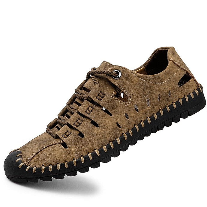Dallas Genuine Leather Men Sandals Casual Outdoor Shoes-FrenzyAfricanFashion.com