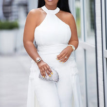 Load image into Gallery viewer, Off Shoulder white Jumpsuit-FrenzyAfricanFashion.com