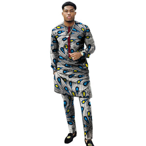efd91292f8eb ... Benino African clothing men's print set shirt with trouser patchwork  Ankara