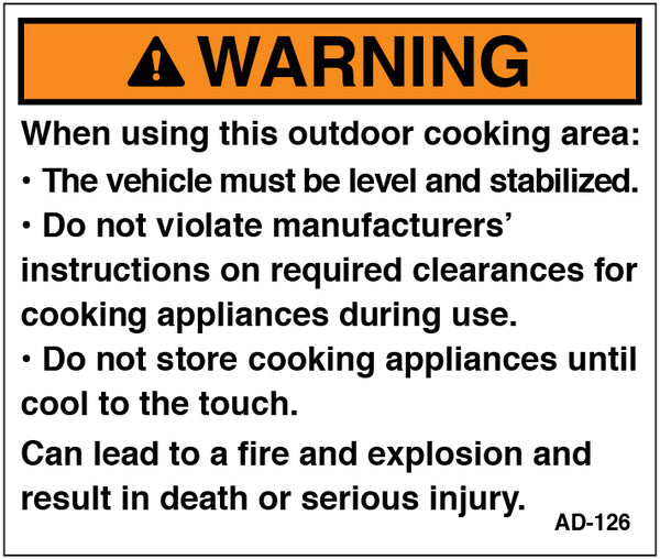 AD-126: Outdoor cooking appliance. Pack of 100.
