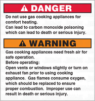DD-26C: Not safe to use cooking appliances for comfort heat. Clear vinyl. Pack of 100.