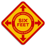 Maintain Distance Floor Graphics (bilingual) - Pack of Five for $25.00