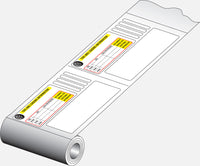 FD-320: Certification multi-label set for U.S.A. Thermal imprintable. Roll of 1000 sets.