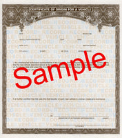 FD-328: Certificate of Origin (MSO) on money paper. 50 state. Pack of 25.