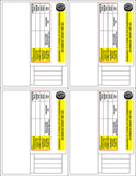 FD-337: Certification multi-label set for Canada. Laser imprintable. Set of 100.