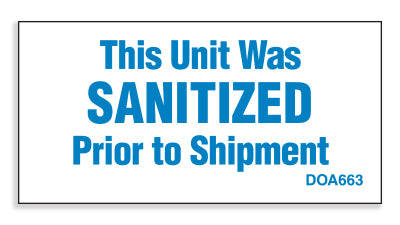 DOA663: This unit has been sanitized. Pack of 100.