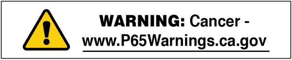 DD-01: Prop 65 Warning - Cancer. Pack of 100.