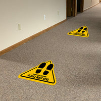 Yellow Floor Graphics - Pack of Five Graphics for $25.00