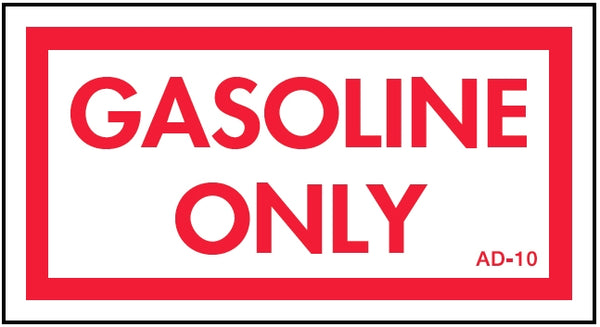 AD-10: Gasoline only. Pack of 100.