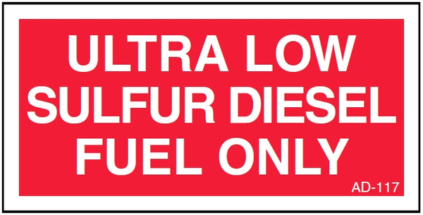 AD-117: Ultra low sulfur diesel fuel only. Pack of 100.
