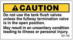 AD-125: Do not use tank flush valves. Pack of 100.