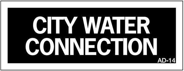 AD-14: City water connection. Pack of 100.