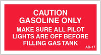 AD-17: Gasoline only. Pack of 100.