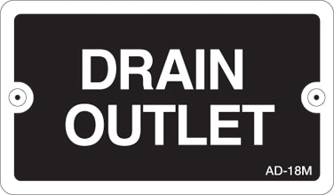 AD-18M: Drain outlet (metal). Pack of 100.