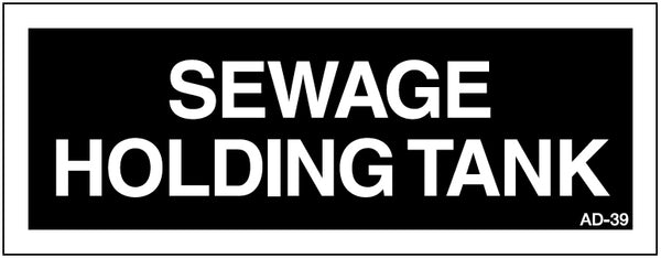 AD-39: Sewage holding tank. Pack of 100.