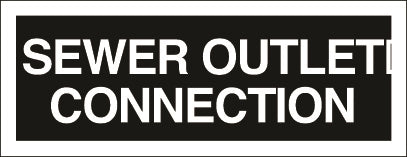 AD-47: Sewer outlet connection. Pack of 100.