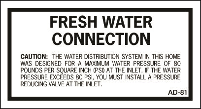 AD-81: Fresh water connection pressure. Pack of 100.