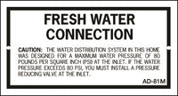 AD-81M: Fresh water connection pressure (metal). Pack of 100.