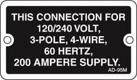 AD-95M: This conn 120/240 volt (metal). Pack of 100.