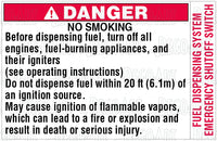 BS-14: Fuel dispensing warnings. Pack of 100.