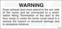 CS-36: Dryer vent instructions. Pack of 100.