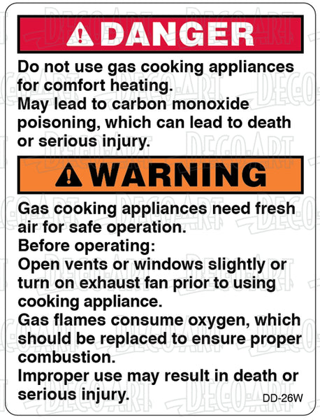 DD-26W: Not safe to use cooking appliances for comfort heat. White vinyl. Pack of 100.