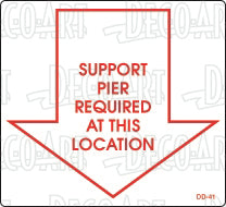 DD-41: Support pier required at. Pack of 100.