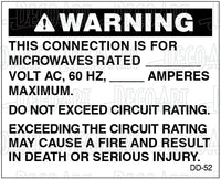 DD-52: Microwave circuit ratings. Pack of 100.