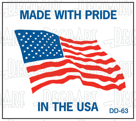 DD-63: Made with pride in the USA. Pack of 100.