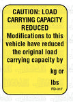 FD-317: Cargo carrying capacity reduced. Laser imprintable. Pack of 50.
