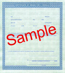 FD-325: Certificate of Origin (MSO) on security paper. Pack of 100.